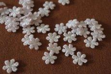 画像6: 20個セット!幅1.2cm小花のケミカルモチーフ 桜色 アクセサリーレース (6)