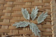 画像4: 10個組!幅3.7cm葉っぱのケミカルレースモチーフ 上品なグリーン (4)