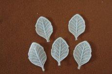 画像3: 15枚セット!幅4.7cm葉っぱの刺繍モチーフ ターコイズ (3)