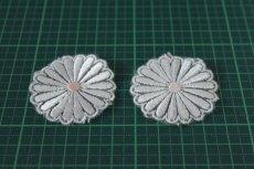 画像3: 5個組!幅4.1cm光沢のある花柄ケミカルレースモチーフ オフホワイト (3)