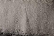 画像8: 3m!幅14.5cm豪華な薔薇柄綿レース オフホワイト (8)