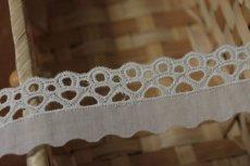 画像5: 6m!幅3.1cm綺麗な刺繍の綿レース オフホワイト (5)
