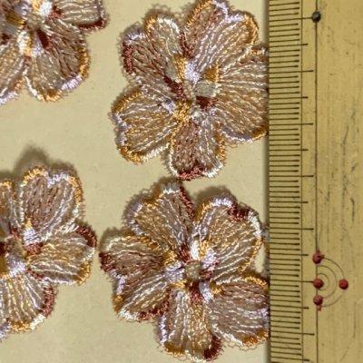 画像1: 10枚組!幅3.8cm花柄チュールレースモチーフ ブラウン