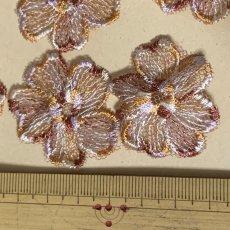 画像4: 10枚組!幅3.8cm花柄チュールレースモチーフ ブラウン (4)