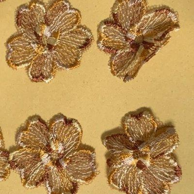 画像3: 10枚組!幅3.8cm花柄チュールレースモチーフ ブラウン