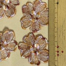 画像3: 10枚組!幅3.8cm花柄チュールレースモチーフ ブラウン (3)
