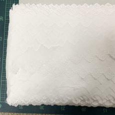 画像8: 13m!幅4.2cm定番のドット柄綿レース 白 (8)
