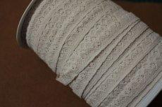 画像8: 10m!幅1.3cm繊細なリバーストレッチレース ベージュ (8)