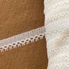 画像3: 幅1.1cmピコが美しいフランス製リバーレース オフホワイト (3)