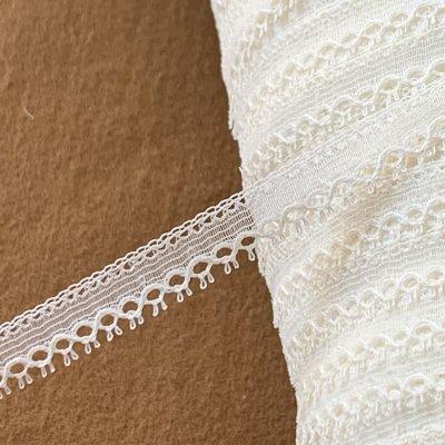 画像2: 幅1.1cmピコが美しいフランス製リバーレース オフホワイト