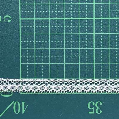 画像1: 幅0.9cm繊細なデザインが美しいフランス製リバーレース オフホワイト