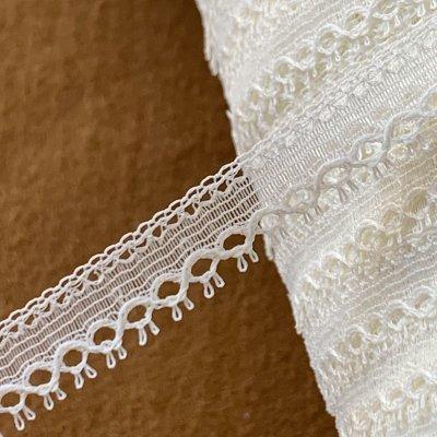 画像3: 幅1.1cmピコが美しいフランス製リバーレース オフホワイト