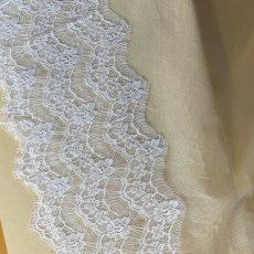 画像9: 幅19cmフランス製リバーレース ホワイト ウエディングベールに (9)