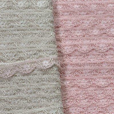 画像3: 5m!幅1cm小花柄ラッセルレース 薄いピンク