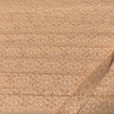 画像2: 5m!幅2.6cm薔薇柄ラッセルストレッチレース ベージュ (2)