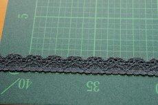 画像3: たっぷり30m!幅1.4cm綺麗なラッセルストレッチレース ダークグレー (3)