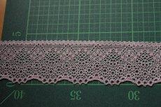 画像4: たっぷり140m!幅4.2cm綺麗なラッセルストレッチレース ピンク (4)