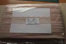 画像9: たっぷり128m!幅4.2cm綺麗なラッセルストレッチレース ベージュ (9)