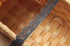 画像4: たっぷり30m!幅1.4cm綺麗なラッセルストレッチレース ダークグレー (4)