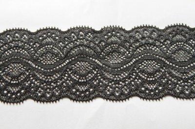 画像2: 5m!幅5.9cm綺麗なラッセルストレッチレース ブラック