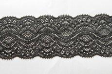 画像2: 5m!幅5.9cm綺麗なラッセルストレッチレース ブラック (2)