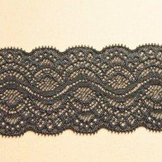 画像5: 5m!幅5.9cm綺麗なラッセルストレッチレース ブラック (5)