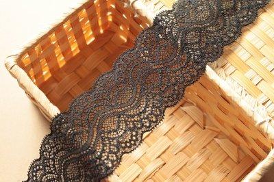 画像3: 5m!幅5.9cm綺麗なラッセルストレッチレース ブラック