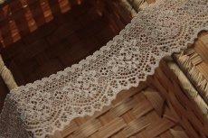 画像5: 5m!幅4.2cm可愛い小花柄ラッセルストレッチレース ベージュ2 (5)