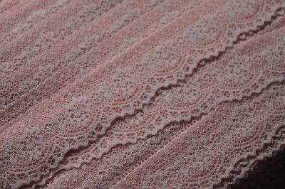 画像3: 5m!幅4.2cm可愛い小花柄ラッセルストレッチレース ピンク