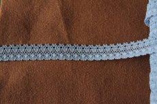 画像2: 10m!幅1.4cm綺麗なラッセルストレッチレース サックス (2)