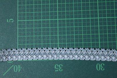 画像1: 10m!幅1.4cm綺麗なラッセルストレッチレース サックス