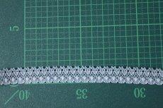 画像3: 10m!幅1.4cm綺麗なラッセルストレッチレース サックス (3)