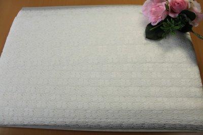 画像3: 20%off!51m!幅3.2cm可愛い花柄ラッセルレース オフホワイト