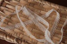 画像7: 幅1.1cmピコが美しいフランス製リバーレース オフホワイト (7)