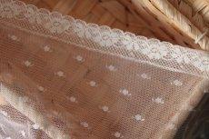 画像9: 幅1.8cm小花柄フランス製リバーレース オフホワイト (9)