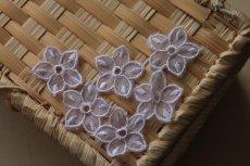 画像6: 10枚組!幅2.8cm透け感が可愛い花柄モチーフ パープル (6)