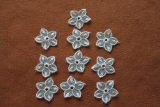 画像7: 10枚組!幅2.8cm透け感が可愛い花柄モチーフ ミントグリーン (7)