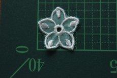 画像4: 10枚組!幅2.8cm透け感が可愛い花柄モチーフ ミントグリーン (4)