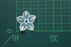 画像3: 10枚組!幅2.8cm透け感が可愛い花柄モチーフ ミントグリーン (3)