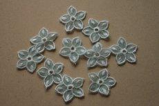 画像2: 10枚組!幅2.8cm透け感が可愛い花柄モチーフ ミントグリーン (2)