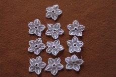画像2: 10枚組!幅2.8cm透け感が可愛い花柄モチーフ パープル (2)