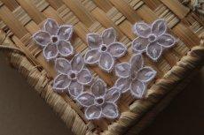 画像7: 10枚組!幅2.8cm透け感が可愛い花柄モチーフ パープル (7)