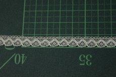 画像3: 幅0.8cmコットン製フランス製リバーレース ホワイト (3)