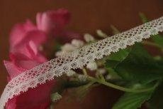 画像7: 1m!幅1cm繊細なフランス製リバーレース ホワイト (7)