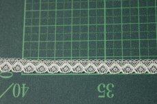 画像2: 幅0.8cmコットン製フランス製リバーレース ホワイト (2)