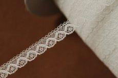 画像6: 幅0.8cmコットン製フランス製リバーレース ホワイト (6)