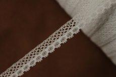 画像6: 1m!幅1cm繊細なフランス製リバーレース ホワイト (6)