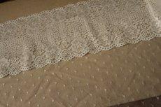 画像4: ラッセルレース オフホワイト マスク 幅14.2cm両山花柄 1m (4)
