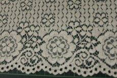 画像9: ラッセルレース オフホワイト マスク 幅14.2cm両山花柄 1m (9)