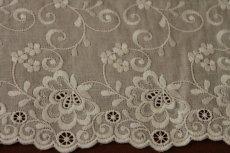 画像6: 幅15cm豪華な花柄綿レース オフホワイト (6)